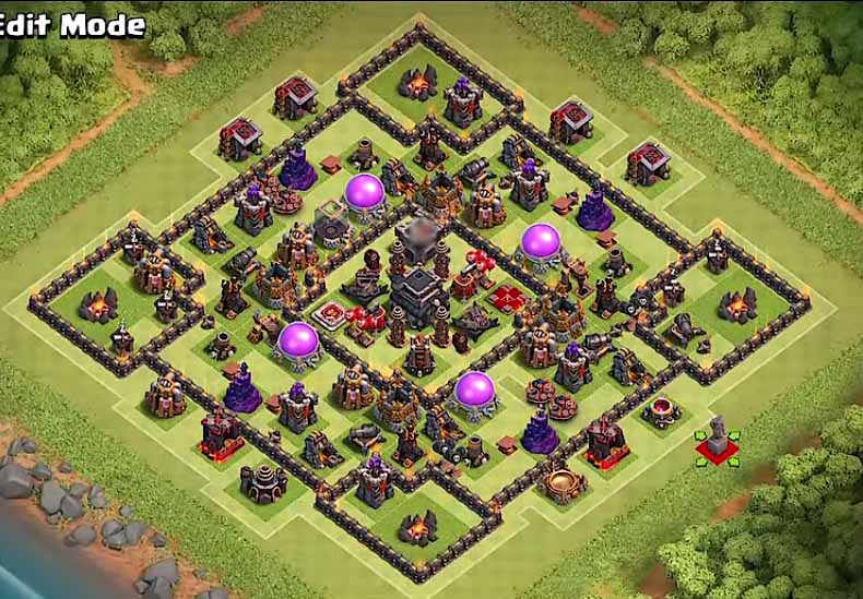 4 Best TH9 Defense Bases With Bomb Tower 2016 2017 - Best